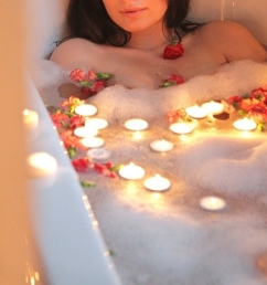 The Romantic Bath (and no, this isn't me)