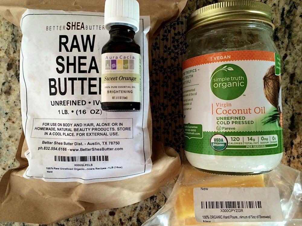 DIY Bath Products - part four - Orange Honey Lotion Bars (1/4)