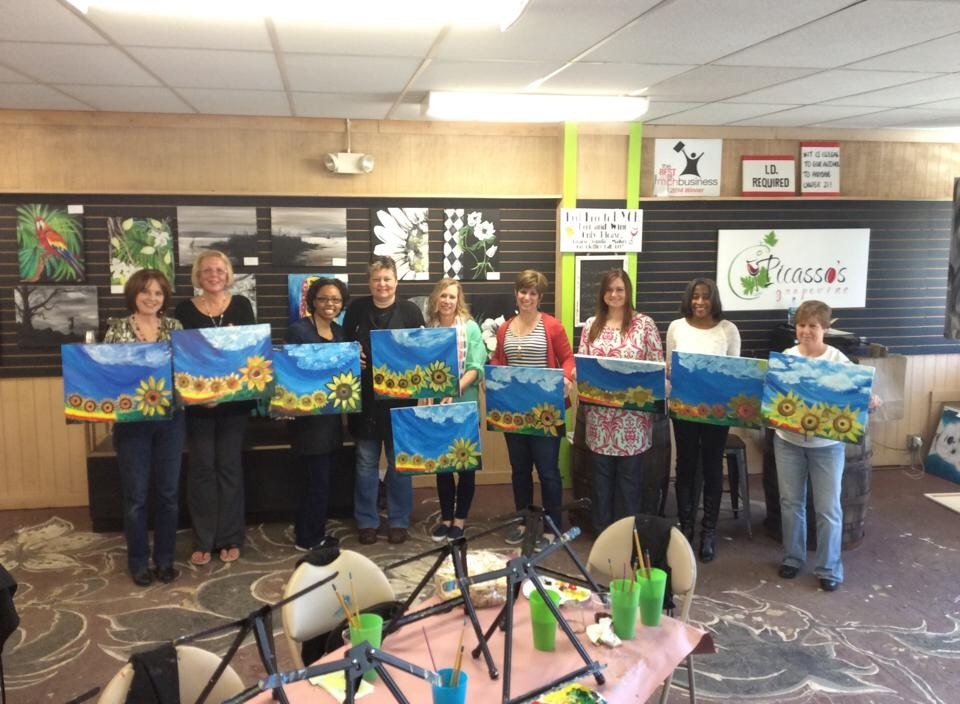 Painting Party at Picasso's Grapevine (2/3)