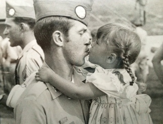 Captain Spence with his daughter. Taken many years ago, priceless.