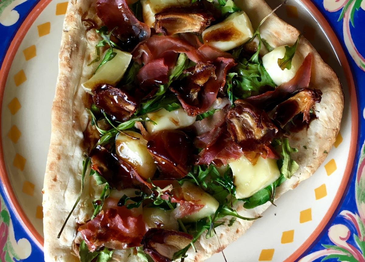 Prosciutto, Brie & Arugula Gourmet Flatbread